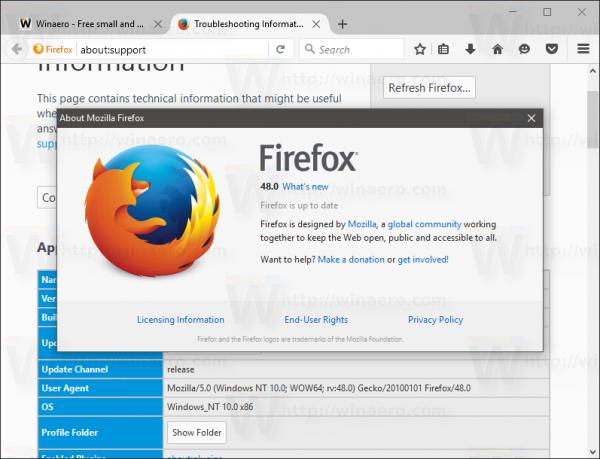 Firefox 48 est sorti avec de nombreux changements