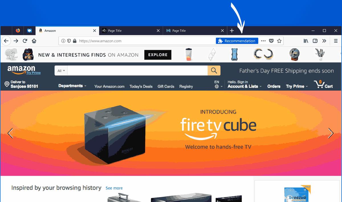 השבת המלצות על הרחבות ב- Mozilla Firefox