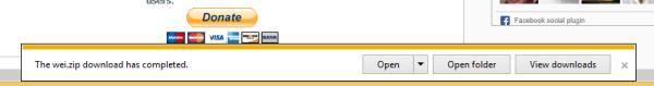 Kaip uždaryti apatinius pranešimus (pranešimų juostą) IE11 naudojant spartųjį klavišą
