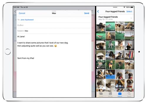 आईपैड प्रो पर स्क्रीन कैसे विभाजित करें