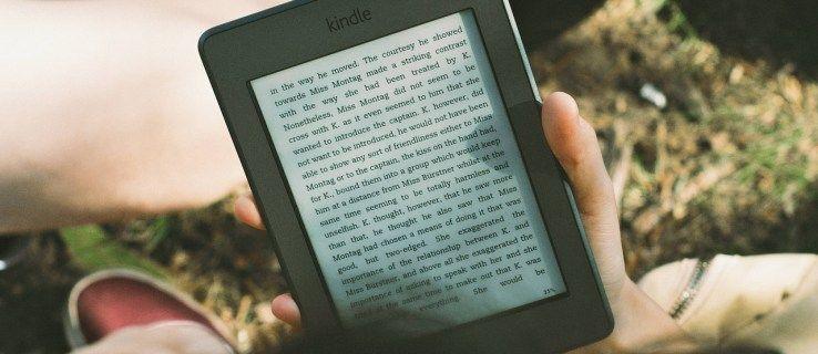 Jak zobrazit hlavní body Kindle online