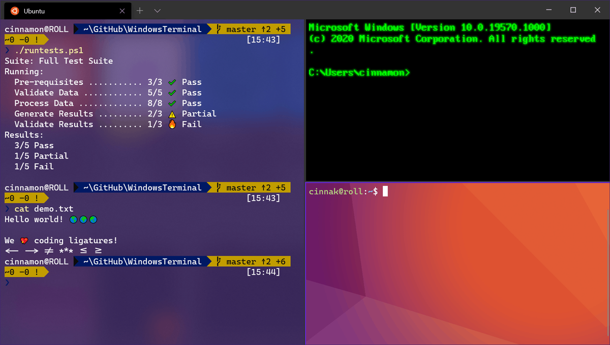 Windows Terminal Preview v1.2.2234.0 dan Stabil 1.1.2233.0 Dirilis