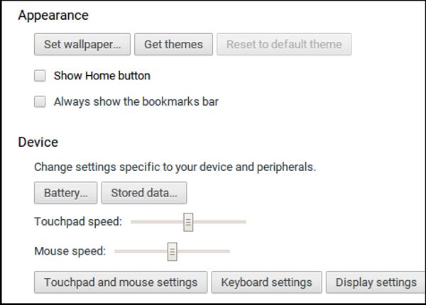 Cách tắt / tắt bàn di chuột Chromebook