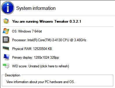 Winaero Tweaker 0.3.2.1 יצא