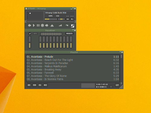 Steam_UI Winamp Skin