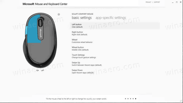 Microsoft Mouse and Keyboard Center est disponible avec le support ARM64