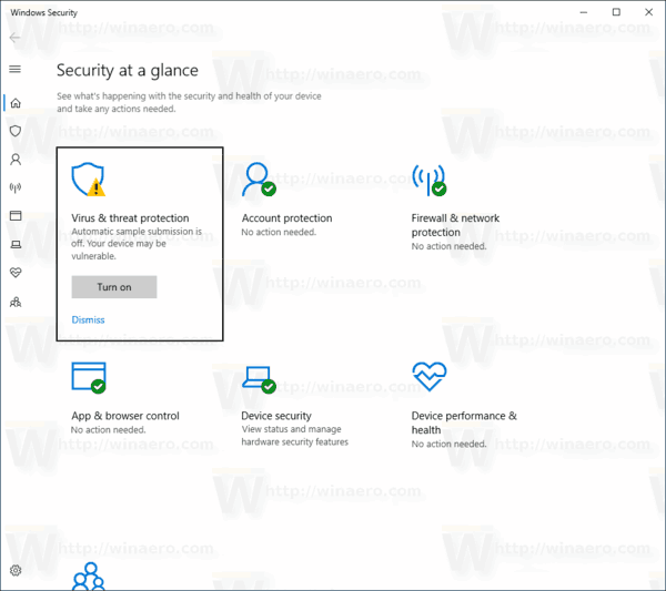 Afficher l'historique de protection de Windows Defender dans Windows 10
