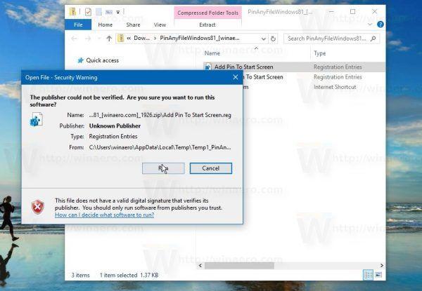 Comment épingler un fichier dans le menu Démarrer de Windows 10