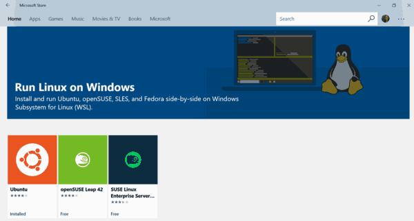 Lista de distribuciones de WSL Linux disponibles en Windows 10