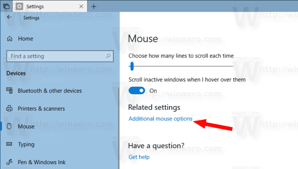 Activer Mouse ClickLock dans Windows 10