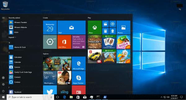 Kako promijeniti veličinu izbornika Start 10 sustava Windows 10