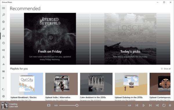 גיבוי ושחזור הגדרות המוסיקה Groove ב- Windows 10