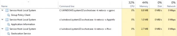 Définir le seuil de partage pour Svchost dans Windows 10