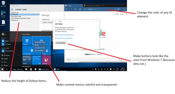 Créer un thème personnalisé pour les applications universelles dans Windows 10