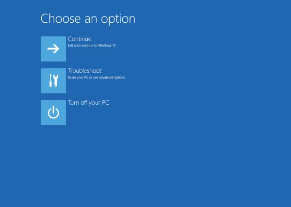 Activer ou désactiver l'environnement de récupération Windows dans Windows 10