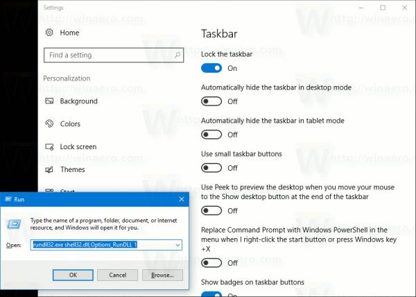 Commandes Windows 10 Rundll32 - la liste complète