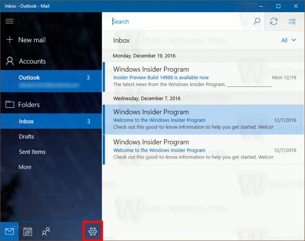כיצד להשבית קיבוץ הודעות בדואר של Windows 10