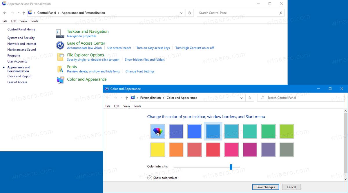 Afegiu color i aparença clàssics al tauler de control de Windows 10