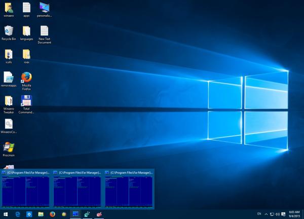 Modifier le seuil des miniatures de la barre des tâches pour afficher la liste dans Windows 10