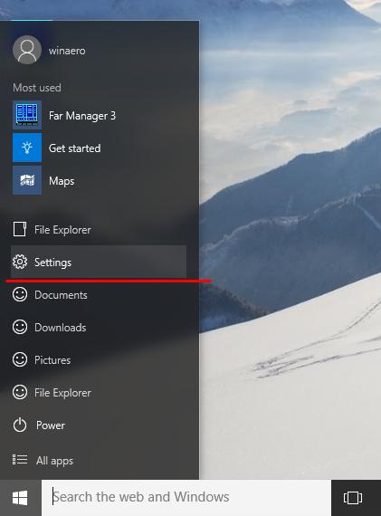 Svi mogući načini otvaranja aplikacije Postavke u sustavu Windows 10
