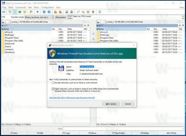Ako povoliť alebo zablokovať aplikácie v bráne Windows Firewall v systéme Windows 10