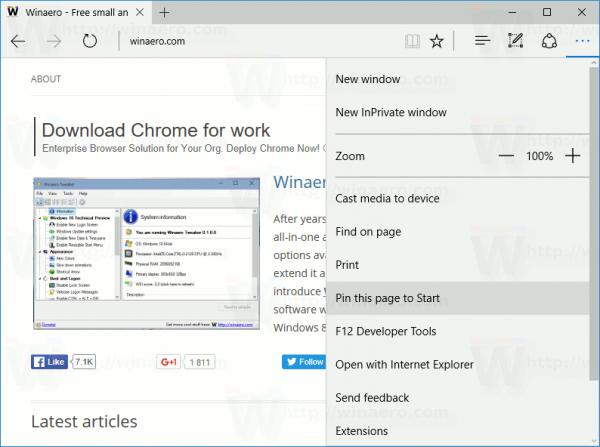 Comment épingler un site Web dans le menu Démarrer de Windows 10