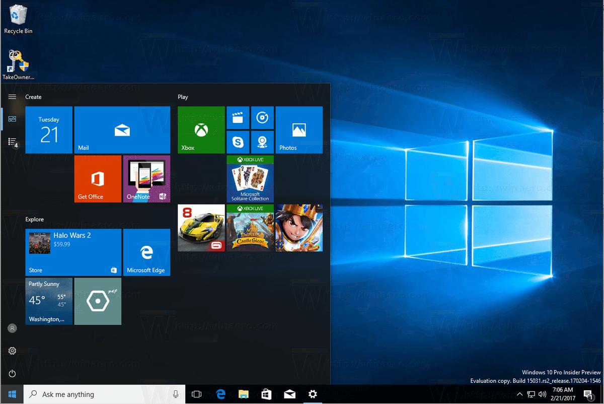 Masquer la liste des applications dans le menu Démarrer de Windows 10