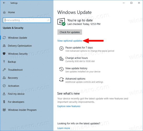 Microsoft sekarang mendorong driver sebagai pembaruan opsional di Windows 10