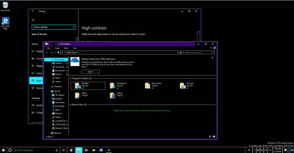 Aktifkan atau Nonaktifkan Pesan dan Suara Kontras Tinggi di Windows 10