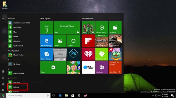 Buat Kalender Windows 10 menunjukkan hari libur nasional
