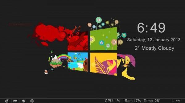 נושא אדום חדש של Gray8 עבור Windows 8